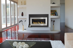 Stylish Living Room Design With Fireplace