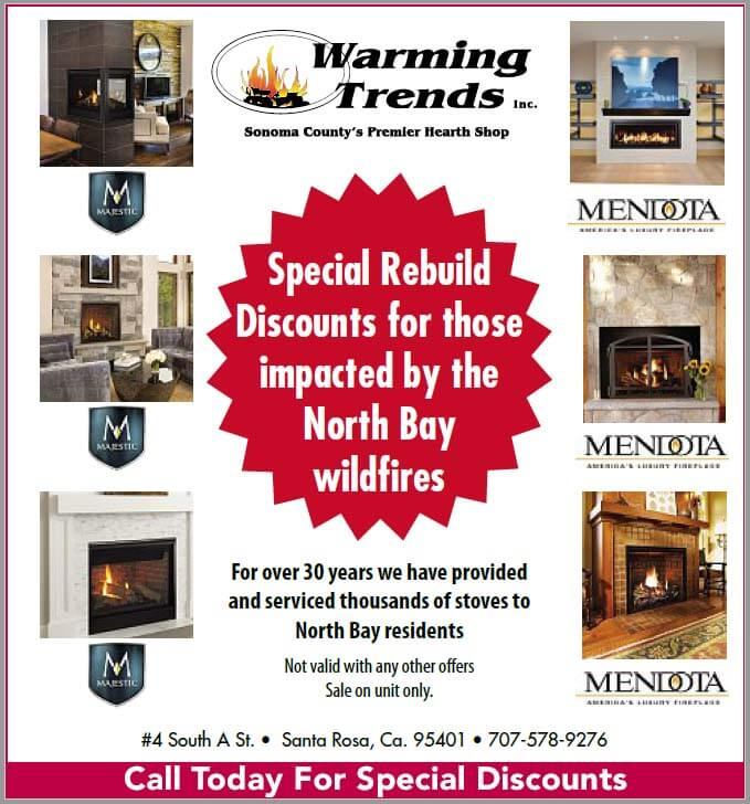 fireplace discounts sonoma county